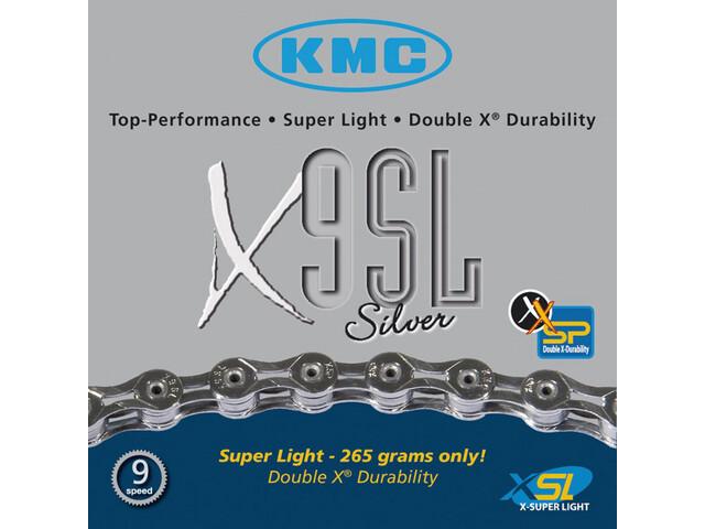 KMC X-9 SL Kette silver